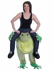 Adults Carry On Frog Piggy back Ride Mascot Unisex Fancy Dress Costume