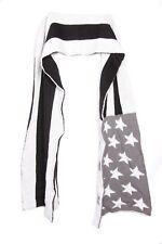 'USA' Super Largo Gruesa Negro Blanco Gris Cálido Bufanda Americana Stars impresión (S50)