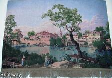 Tapestry Wall Hanging View of a River Canaletto Home Art Deco finished backed