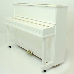 """Steinhoven SU112 Upright Piano, Polished White (112cm, 44"""")"""