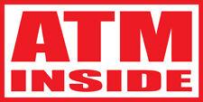 Atm Inside Banner Sign Sizes 24 48 72 96 120