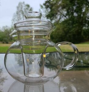 Laroma Glass Tea Pot w/ Removable Infuser Strainer Filter~Makes 5 Cups~40 Ounces