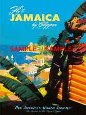 """Pan American Air Lines ( JAMAICA ) 11"""" x 17"""" Collector's Travel Poster Print"""