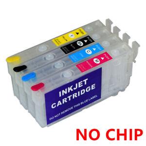 NO CHIP T812XL 812XL Ink Refillable Cartridge For Epson WF-7820 WF-7840 EC-C7000