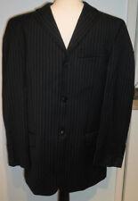 "Pierre Cardin Mens Black pinstripe suit chest pit to pit 20""/32"" inside leg  IS"