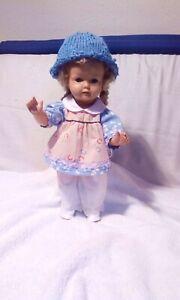 Alte Wernicke Puppe 635/40 blonde Haare mit Zöpfen Schlafaugen und Mama Stimme