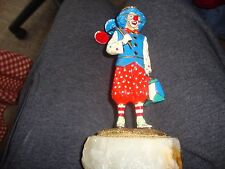 Signed Ron Lee 1994 Painted Bronze Statue Red Nose Boy Clown
