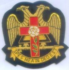 Masonic Rosy Cross Eagle Scottish Rite Spes Mea In Deo Est God 32 Degree Masonry