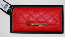 NWT BCBG Paris Red Quilted Faux Leather Bi-Fold Wallet