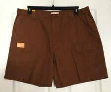 Mens Savane Toffee Brown Utility Cargo Summer Shorts Size 42