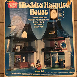 Weebles Halloween Haunted House Ghost Witch Simpsons Treehouse of Horror w/ Box