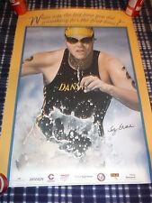 "Rare 19.5""x27.5"" Signed Poster: SALLY EDWARDS_Danskin Women's Triathlon Athlete"