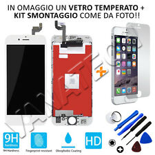 VETRINO LCD DISPLAY TOUCH SCREEN RETINA COMPLETO APPLE IPHONE 6S BIANCO GLS 48H