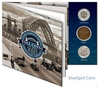 SYDNEY HARBOUR BRIDGE TOLL COINS Presented in Folder Pack