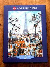 Heye 1000 piece jigsaw puzzle. 'Eiffel Tower' by Loup. Complete