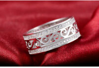 New 925 Sterling Silver Ring Wedding Band Zircon Rings Engagement ring. CB2