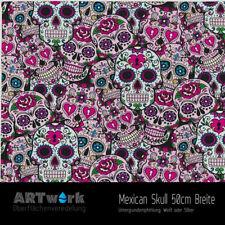 Wassertransferdruck Folie WTD Mexican Skull 1m x 50cm Breite