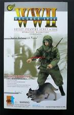 """Belarus 1944 Soviet Infantry Scout With Dog Dragon 12"""" Action Figure"""