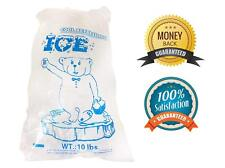 10lbs BPA Free FDA Approved Clear Plastic Ice Bags 1.5 mil With Twist tie