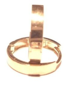 14Kt Solid Yellow Gold 2.5MM X 13MM Huggie Earrings..-Gift Box - FREE SHIPPING!