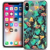 Coque Crystal Gel Pour iPhone X (10) Extra Fine Souple Spring Tropical