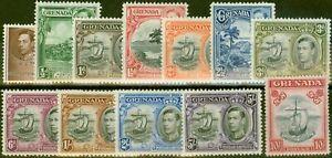 Grenada 1938 set of 12 SG153-163a V.F Very Lightly Mtd Mint