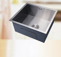 Square  Small Handmade Single Bowl Stainless Steel Undermount Kitchen Sink