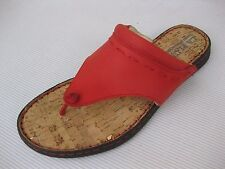 La Plume Womens Shoes $85 NEW Metro Red Leather Thong Sandal 38 7.5 8