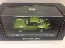 Minichamps Porsche 911 Turbo 930 Lindgrün Metallic light green 1977 1:43 Limited
