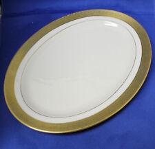 "Lenox Westchester White Gold Encrusted 17"" Oval Serving Platter"