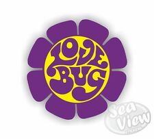 Volkswagen Love Bug Flower Purple Beetle Car Van Sticker Funny Decal Stickers VW