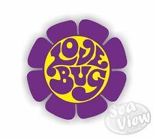Volkswagen Love Bug Flower Purple Beetle Car Van Sticker Funny Decal Stickers VW