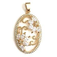 Gorgeous Wedding Jewelry Carved Large Diamond Pendant Charm Enhancer YW254
