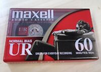 Maxell UR-60 Cassette Tape Normal Bias 60 Minutes 90m  New Sealed