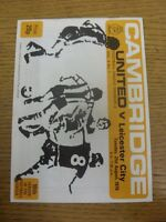 21/08/1979 Cambridge United v Leicester City  . Trusted sellers on ebay bobfrank