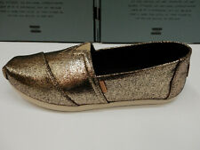 Toms Womens Classic Gold Crackle Shimmer 8.5