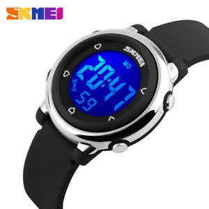 Kids Boys Girls Digital Watch 5ATM Water Resistant Stopwatch Alarm Ages 5+ Gift