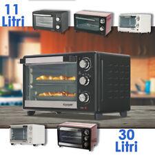 Forno Fornetto Elettrico Ventilato 30 1380 W  statico 11 litri 650w Timer nero