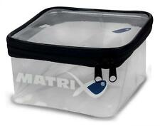 MATRIX PVC CLEAR ZIP-TOP ACCESSORY POUCH CARP FISHING BAIT TACKLE BOX 18x18x10cm