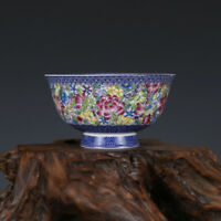 Fine Chinese Qing Qianlong old antique Porcelain famille rose flower bowl