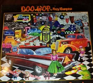 DOO-WOP 1000 Piece JIGSAW PUZZLE New Sealed 1950's Scene Route 66 Thompson