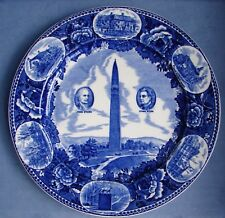 Wedgwood Blue Transferware Collector'S Plate Bennington Battle Monument England