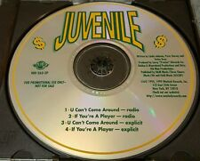 Juvenile - U Can't Come Around / If You're A Player Promo Cd Dj Precise Warlock