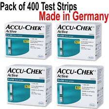 PACK OF 400 Test strips, ACCU CHEK ACTIVE TEST STRIPS EXP October 2019