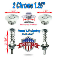 """8 Sets 1.25"""" Black Push Button Latches Quick Shipping Latch Hood Fender,Deck Lid"""