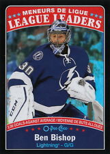 16/17 O-Pee-Chee Black Rainbow League Leaders Ben Bishop #654 Lightning /100