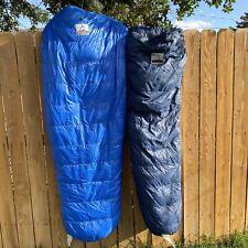 Holubar Sleeping Bag Pair -20 Deg F Vintage Down USA Made Adult Child Blue