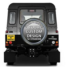 4x4 Reserverad-Aufkleber Irgendein Fahrzeug Personalisierter Werbung
