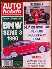AUTO HEBDO 655 du 1/12/1988; Match Lancia Thema Turbo 16 V- Alfa Roméo 164 Turbo