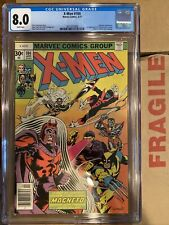 X-Men #104 CGC 8.0 1st Starjammers In Cameo !!  Off White/ White Pages!
